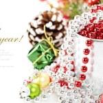 heldere Kerstmis samenstelling — Stockfoto