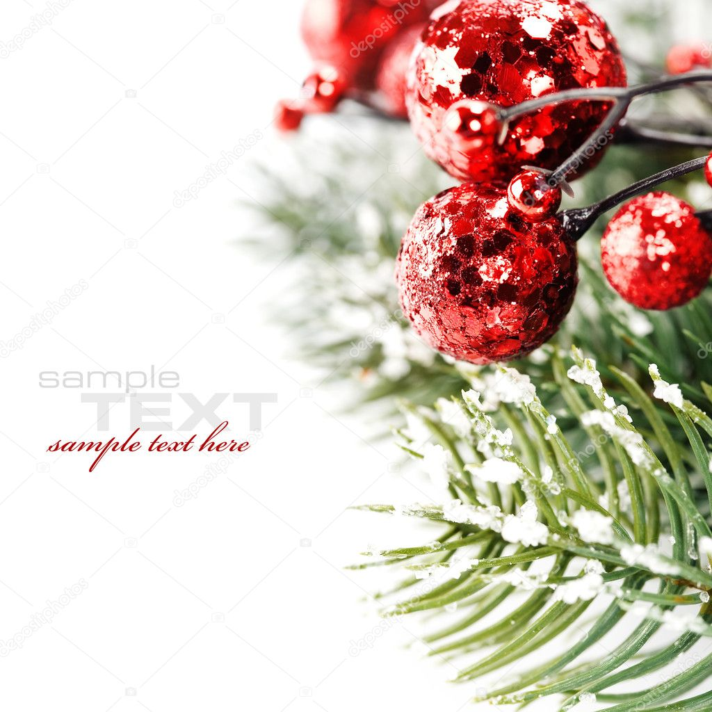 Bright christmas composition with sample text — Zdjęcie stockowe #4097567