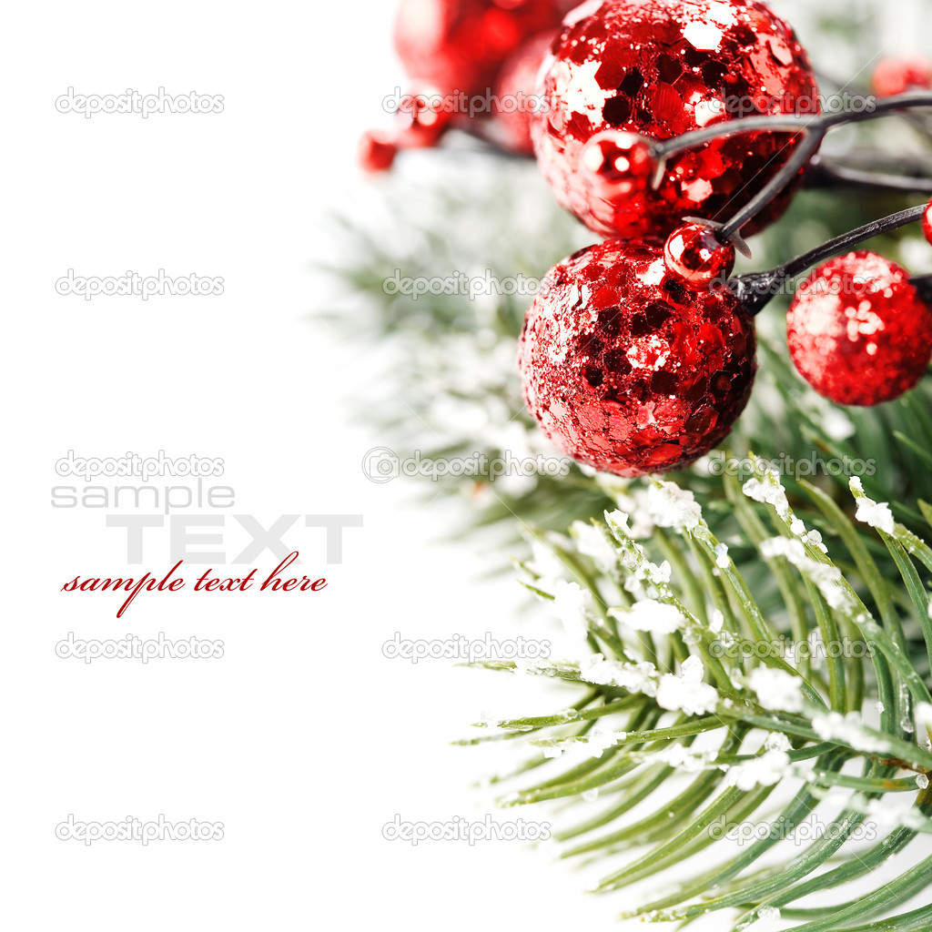 Bright christmas composition with sample text  Stock Photo #4097567