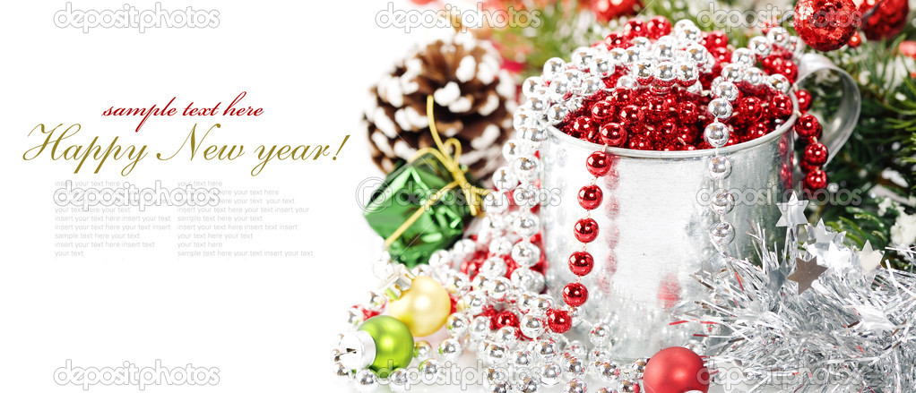 Bright christmas composition with sample text — Stock Photo #4097611