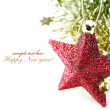 Bright christmas composition with stars — Stock Photo #4115582