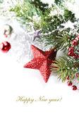 Světlé vánoční složení — Stock fotografie