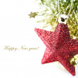 Bright christmas composition with stars — Stock Photo