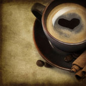 Kahve kalp — Stok fotoğraf