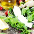 Fresh italian ingredients - Stock Photo