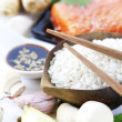 Traditional asian ingredients - Stock Photo