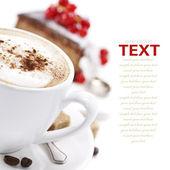 Kahve ve çikolata kek — Stok fotoğraf