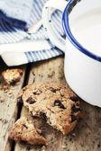 Süt ve kurabiye — Stok fotoğraf