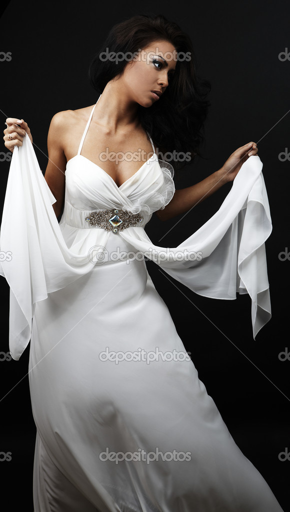 Beautiful woman in glamour evening dress — Stock Photo #4071423