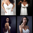 ollage photographs exquisitely beautiful woman. - Stock Photo