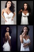 Сollage photographs exquisitely beautiful woman. — Stock Photo