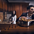 Chessplayer. Conceptual photo. - 