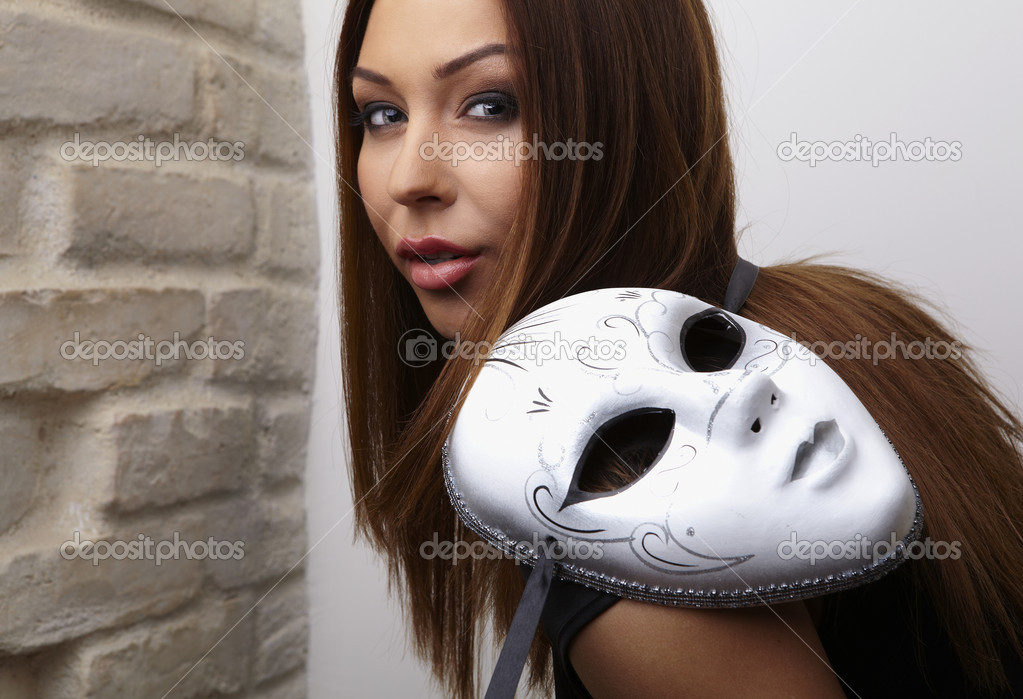 photo of girls with mask № 22466