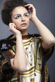 Romantic style photo of a beautiful brunette — Stockfoto