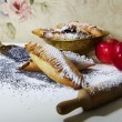 Pie strewed by powdered sugar — Lizenzfreies Foto