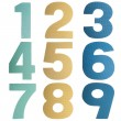 Stock Photo: Coloful numbers
