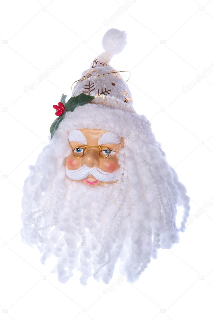 Lovely Santa Claus, Christmas decoration isolated on white background — Stock Photo #4451185