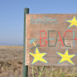 Beach sign — Stock Photo #4839494