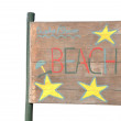 Beach sign — Stock Photo