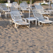 Beach chairs and umbrellas — Stock Photo #4844671