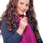 冰淇淋的小女孩 — 图库照片