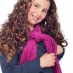 liten flicka poserar — Stockfoto