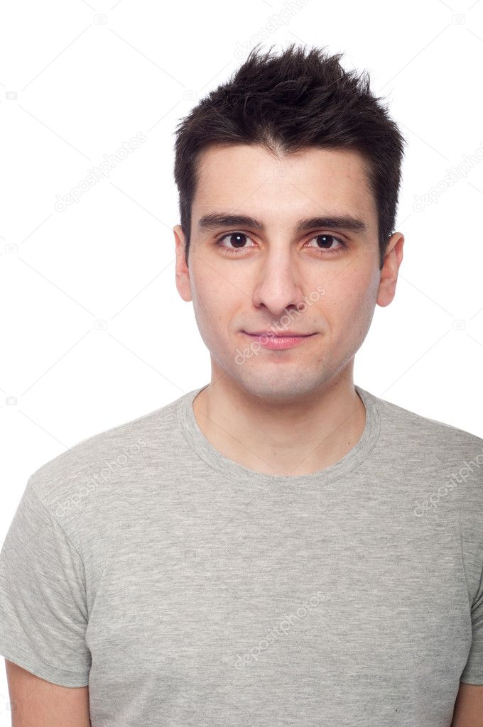 Young casual man portrait isolated on white background  — Stock Photo #5166009
