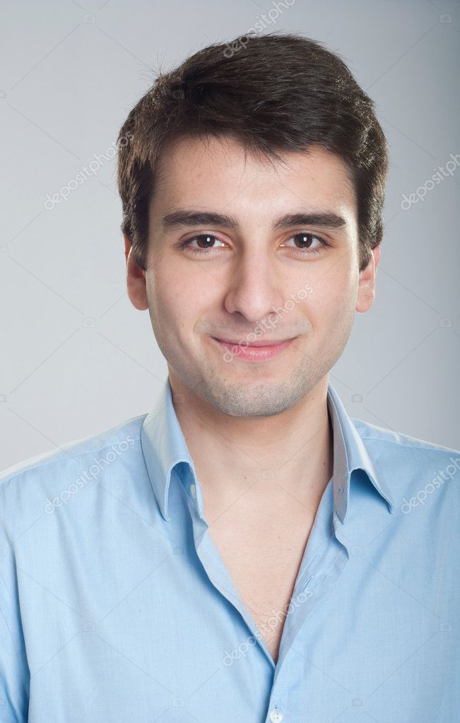 Portrait of a smiling handsome trainee starting business career — Stock Photo #5363013