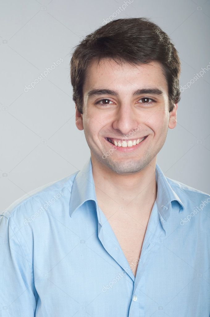 Portrait of a smiling handsome trainee starting business career — Stock Photo #5363021
