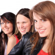 Three teenage girls — Stock Photo