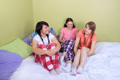 Girl sleepover — Stock Photo
