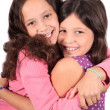 Stock Photo: Sweet little sisters