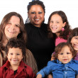 Stock Photo: Young multi ethnic family
