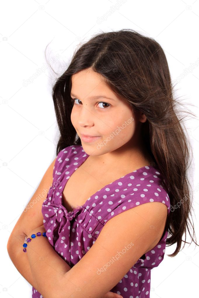 Pretty Eight Year Old Girl Stock Photo Gvictoria 3971508