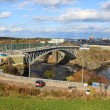 Reversing Falls bridge, Saint John NB — Stock Photo