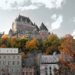 Chateau in Quebec city, Canada - ストック写真