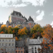 Stock Photo: Chateau in Quebec city, Canada