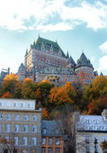 Chateau in Quebec city, Canada — Foto Stock