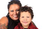 Máma a syn — Stock fotografie