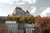 Castillo en la ciudad de quebec, canadá — Foto de Stock