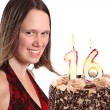 Sixteen year old teenage girl birthday — Stock Photo #4244639
