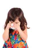 Sick little girl — Foto Stock