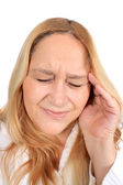 Woman with tension headache pain — Stock Photo