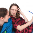 Homework headache — Stock Photo