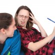 Homework headache — Stock Photo #5061152