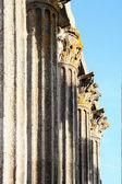 Temple pillars — Stock fotografie