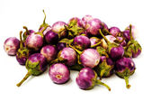 Group of small Egg-plants. Aubergine. — Stock Photo