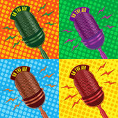 Old vintage microphone background — Stock Photo