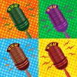 Old vintage microphone background — Stock Photo #4004689