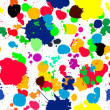 Ink splats pattern in colors - Stock Photo